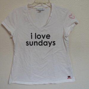 """Peace Love World """"I Love Sundays"""" V Neck Tee"""